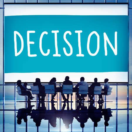 HESITATE: Decision Choose Chance Selection Option Concept
