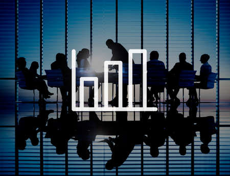 analyzing: Bar Graph Marketing Analyzing Growth Increase Concept Stock Photo