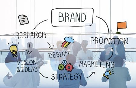 branding: Brand Marketing Advertising Branding Design Trademark Concept Stock Photo