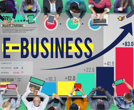 ebusiness: E-business Digital Marketing Networking Online Concept