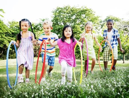 子供たちの陽気なコンセプト 写真素材