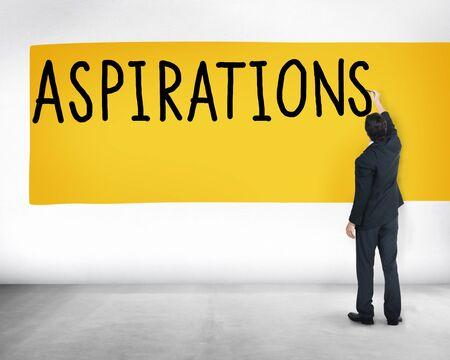 expectation: Aspiration Expectation Inspiration Hope Concept