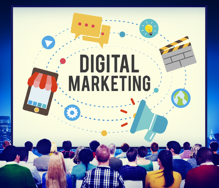 Audience with the word DIGITAL MARKETING