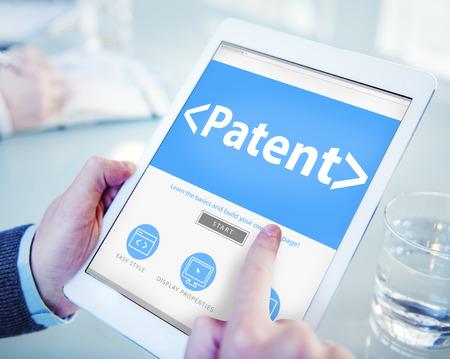 Digital Online Patent Branding Office Working Concept Stock Photo