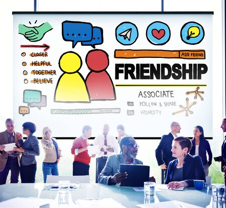 comrades: Friendship Group People Social Media Loyalty Concept