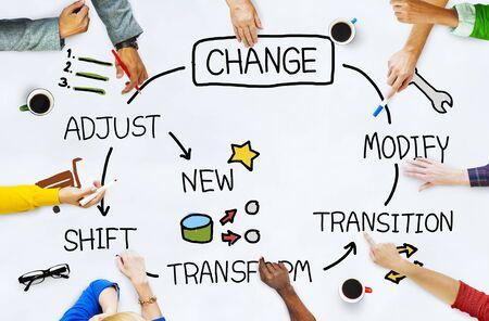 Change Improvement Development Adjust Transform Concept