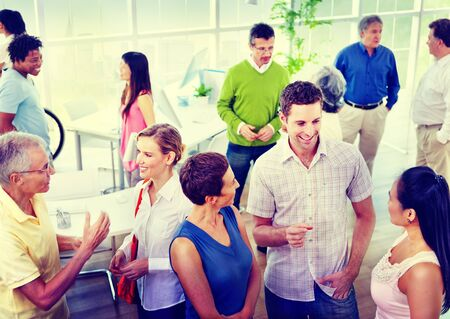 organised group: Business People Communication Diversity Working Office Concept
