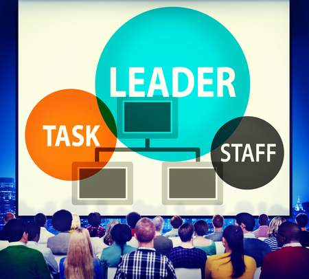 Audience with leader and organization concept