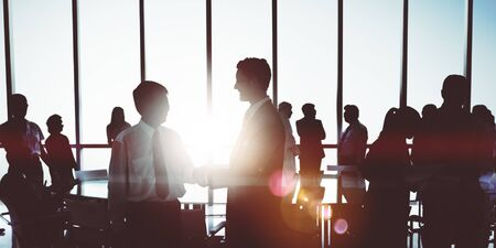 middle eastern ethnicity: Business People Meeting Discussion Corporate Handshake Concept Stock Photo