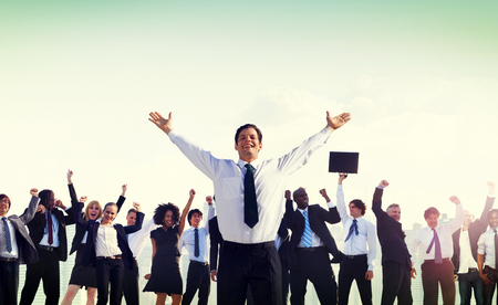 african business man: Business People Corporate Success Concept Stock Photo