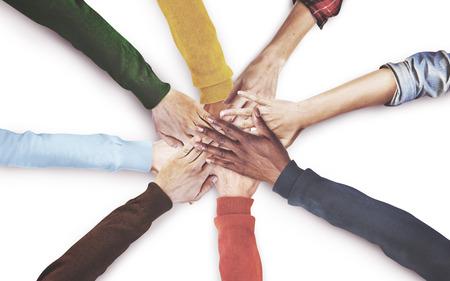Groep Diverse Hands Together Deelnemen Concept