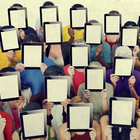 digital device: Social Gathering Digital Tablet Communication Society Concept