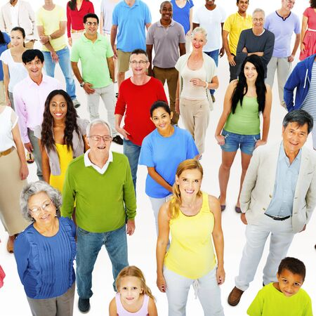 mixed age: Large Group People Working Team Diverse Ethnic Concept
