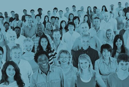 mixed age: Ethnicity Diversity Ethnic Diverse Community Crowd Concept Stock Photo