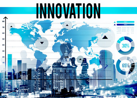 group communication: Innovation Creativity Ideas Invention Mission Concept Stock Photo