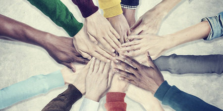 People Hands Together Unity Team Cooperation Concept Standard-Bild