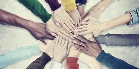 Gente Manos Juntas Unidad Equipo de Cooperación Concept