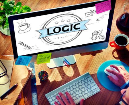 lógica: Lógica Lgical razonable Concepto Pensamiento Crítico