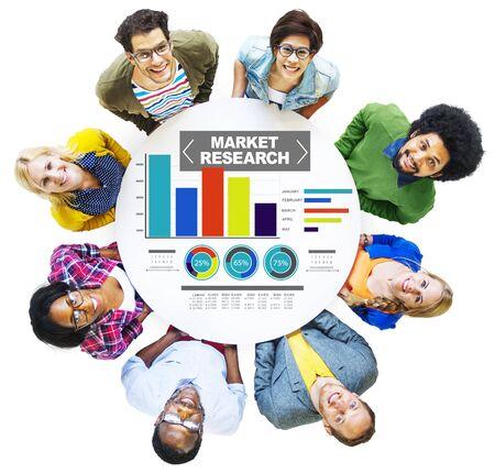 Concepto de estrategia de mercadotecnia de investigación de mercado de negocios de investigación de mercado
