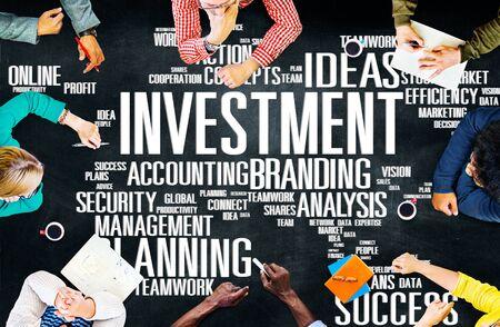 Planificación Visión Inversión Financiera Éxito Global Concept