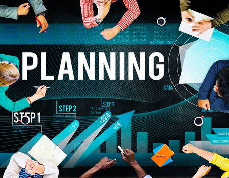 financial goals: Business Planning Data Analysis Strategy Concept