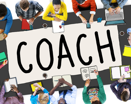 tutor: Coach Coaching Guide Instructor Leader Manager Tutor Concept