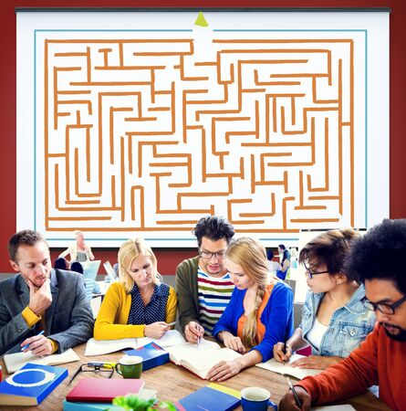 no way out: Maze Strategy Success Solution Determination Direction Concept