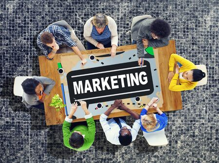 place to learn: Marketing Strategy Branding Commercial Advertisement Plan Concept