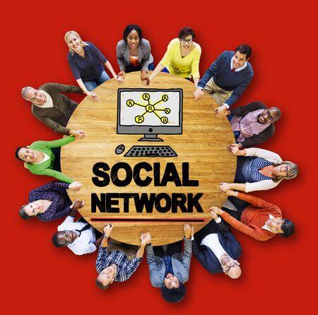 www: Social Network Social Media Internet WWW Web Online Concept