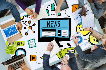 latest news: News Article Advertisement Publication Media Journalism Concept