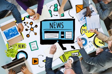 Nouvelles article Publicité publication média Journalisme Concept Banque d'images