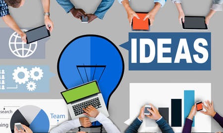 place to learn: Ideas Creativity Graph Inspiration Thoughts Internet Concept