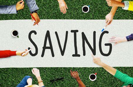 money concept: Saving Save Economy Accounting Money Concept Stock Photo