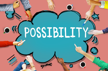 feasibility: Possibility Possible Occasion Hope Feasibility Concept Stock Photo