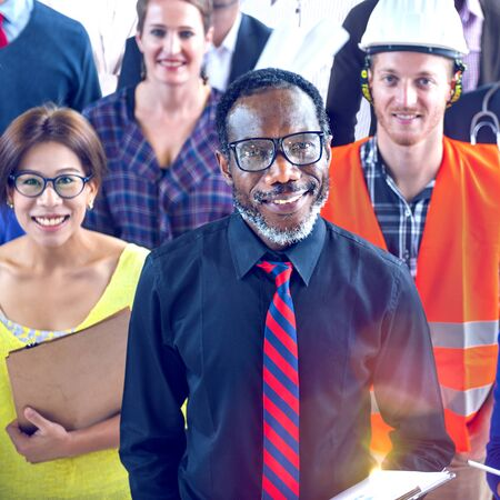 various occupations: Multi-Ethnic Group of People with Various Occupations Concept Stock Photo