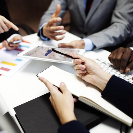 liderazgo empresarial: Organización del Equipo Negocio corporativo Reunión Concepto