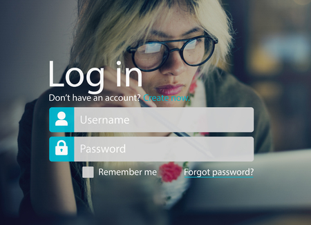 Log In Sign Up Register Account Page Concept