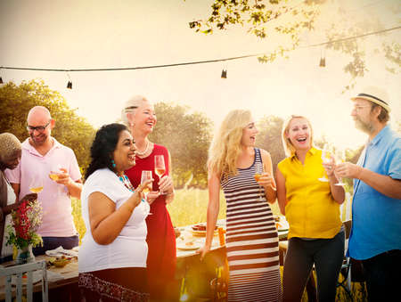 drunk woman: Diverse People Friends Hanging Out Drinking Concept