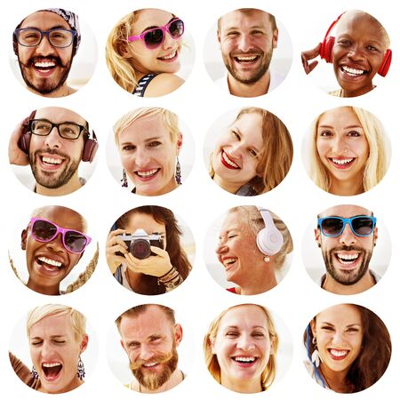 multiple ethnicity: Portrait of Diverse Multiethnic Cheerful People