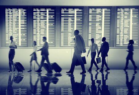 Gente de negocios Aeropuerto Terminal Viajes Concepto Salida