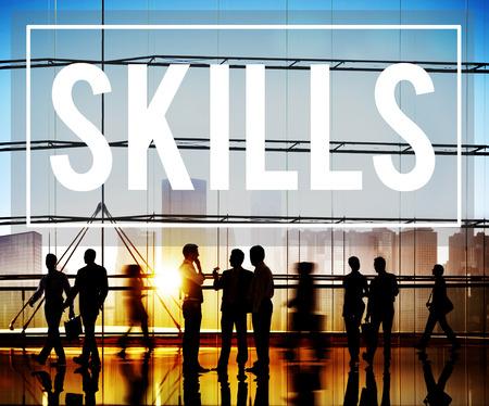 Skill Ability Qualification Performance Talent Concept Archivio Fotografico