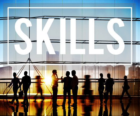 skills: Skill Ability Qualification Performance Talent Concept Stock Photo