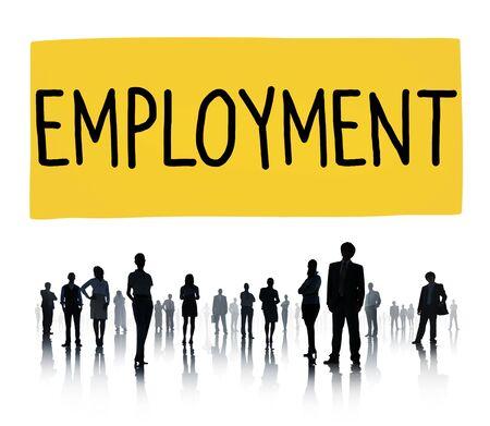 employed: Employment Employed Career Job Hiring Concept Stock Photo