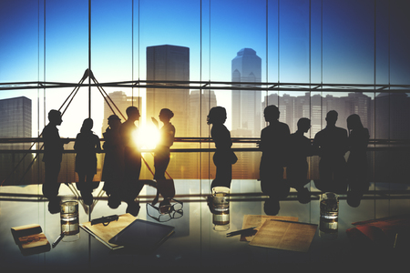corporate team: Business People Meeting Discussion Corporate Team Concept Stock Photo