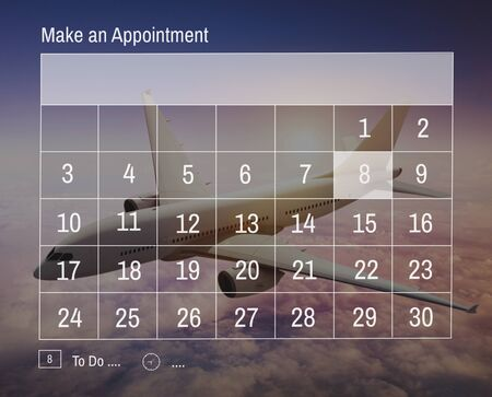 mid air: Calender Make Appointment Organization Management Concept