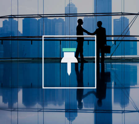 pinned: Business Working Thumbtack Pinned Note Office Stock Photo