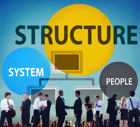 Geschäftsstruktur Flussdiagramm Unternehmensorganisation Konzept
