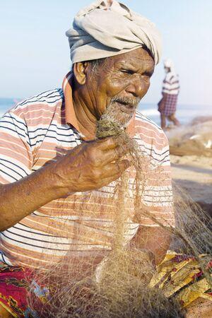 india fisherman: Indian Fisherman Kerela India Poverty Concept Stock Photo