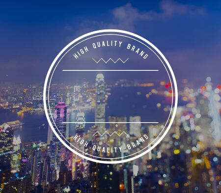 hong kong night: High Quality Brand Best Badge Stamp Concept Stock Photo