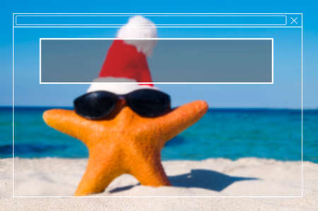 christmas tide: Copy Space Frame Summer Vacation Holiday Concept Stock Photo